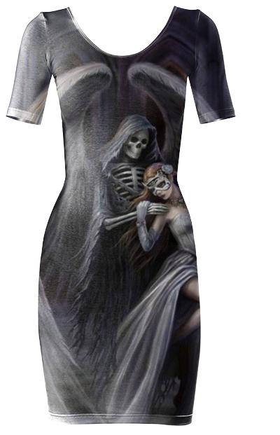 Lord Death Angel Bodycon Dress