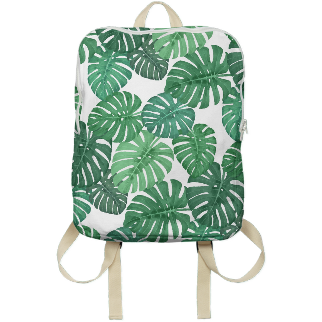 Monstera Jungle Backpack by Frank-Joseph