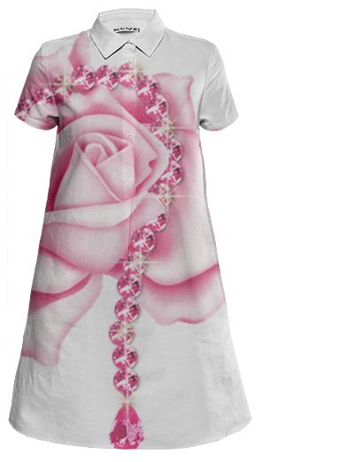 Isabel SK rose Shirt dress