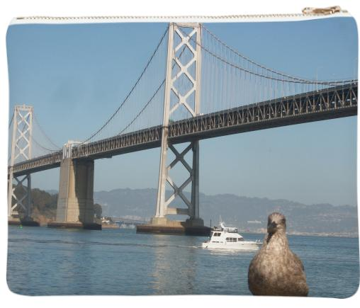 Cheeky Seagull Posing With Bay Bridge