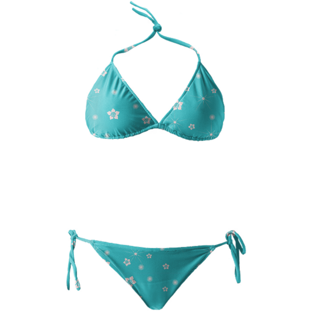 Abstract Flowers Explosion Bikini