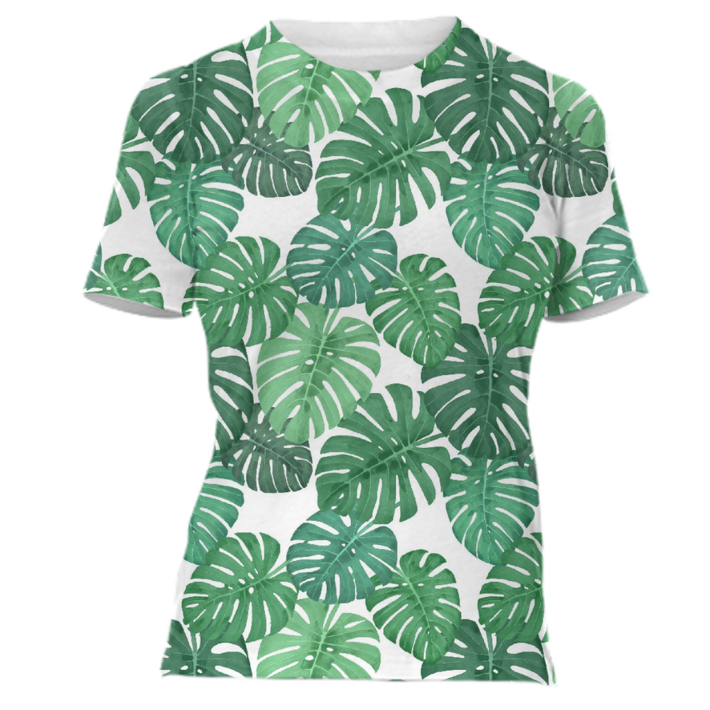 Monstera Jungle Babydoll Tee by Frank-Joseph