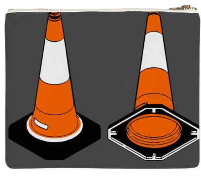 orange and black Traffic cones safety pylons