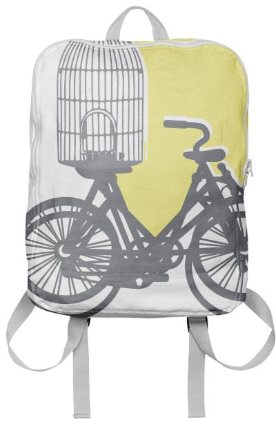 Street bikes and emty bird cage