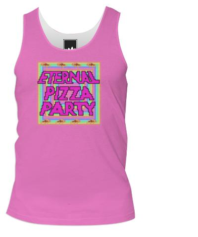 Eternal Pizza Party Pink Tank
