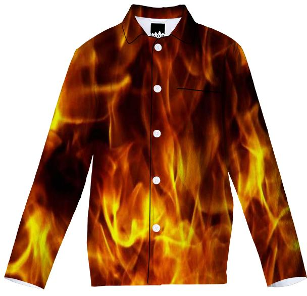 Fire Flames Pajama Top
