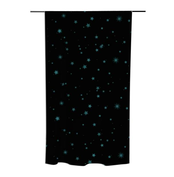 Blue Stars Curtain