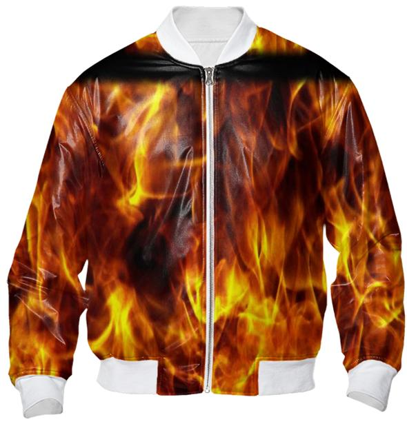 Hot Flames Bomber Jacket