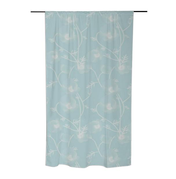 Blue Floral Curtain