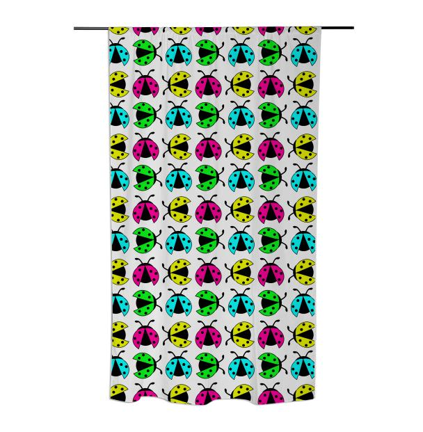 Neon ladybugs curtain