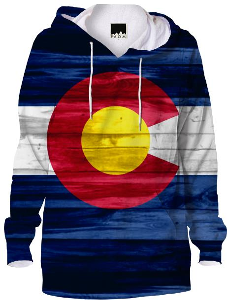 Wood Colorado flag hoodie