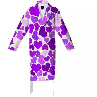 Purple Heart Explosion Cotton Robe
