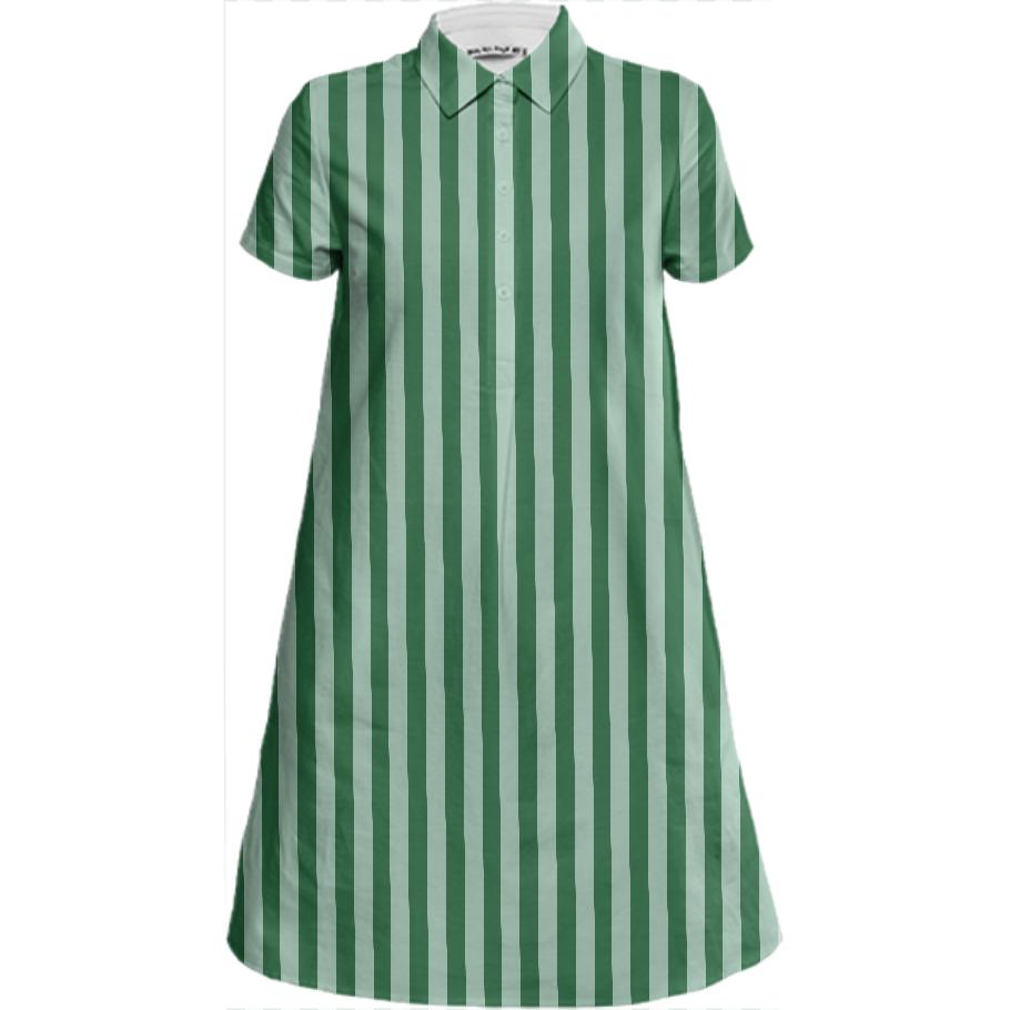 PAOM, Print All Over Me, digital print, design, fashion, style, collaboration, sugarandcloth, Mini Shirt Dress, Mini-Shirt-Dress, MiniShirtDress, Green, Stripe, spring summer, unisex, Linen, Dresses