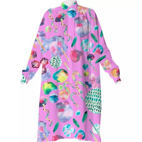 Bubblegum Garden Shirtdress