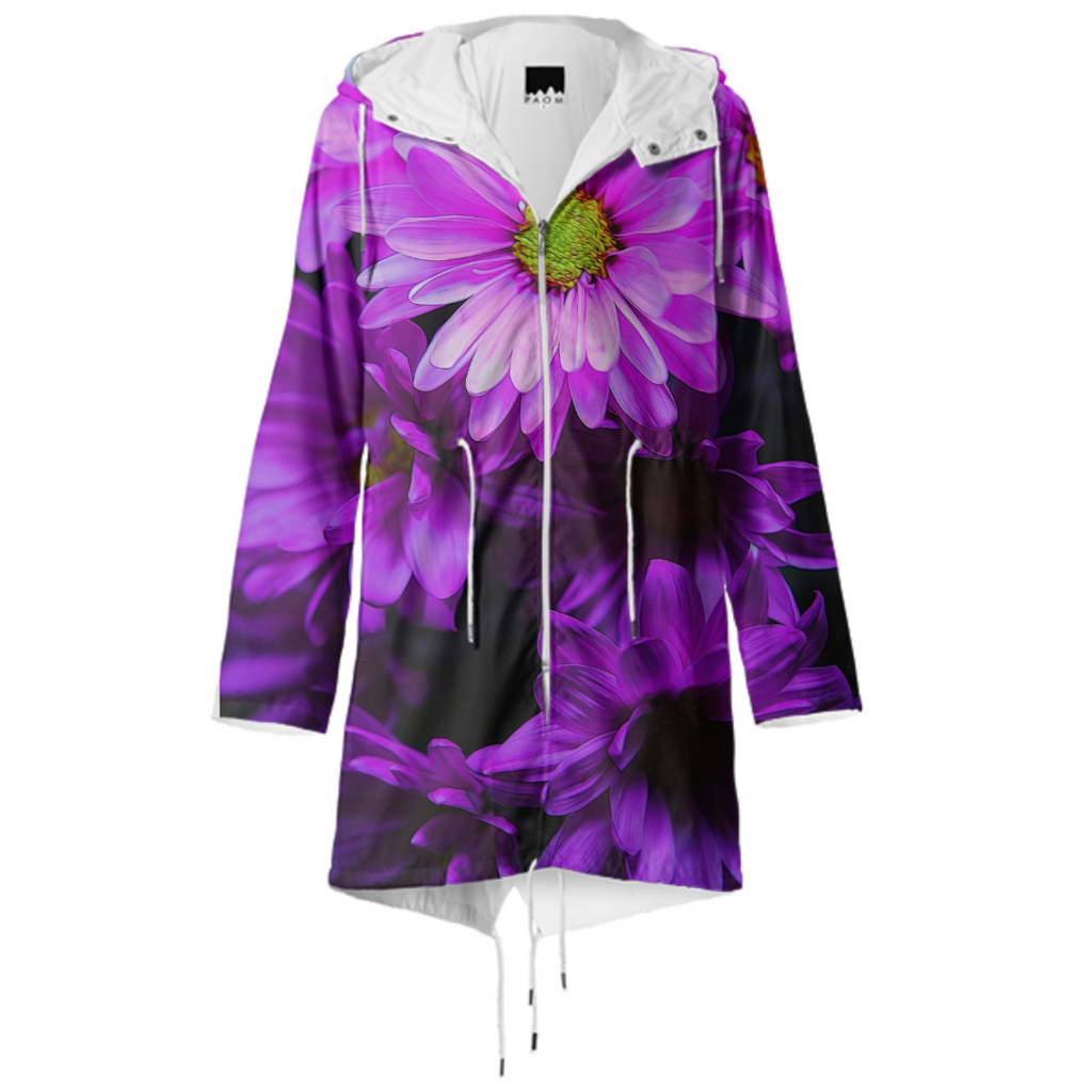Purple Summer Flowers Raincoat