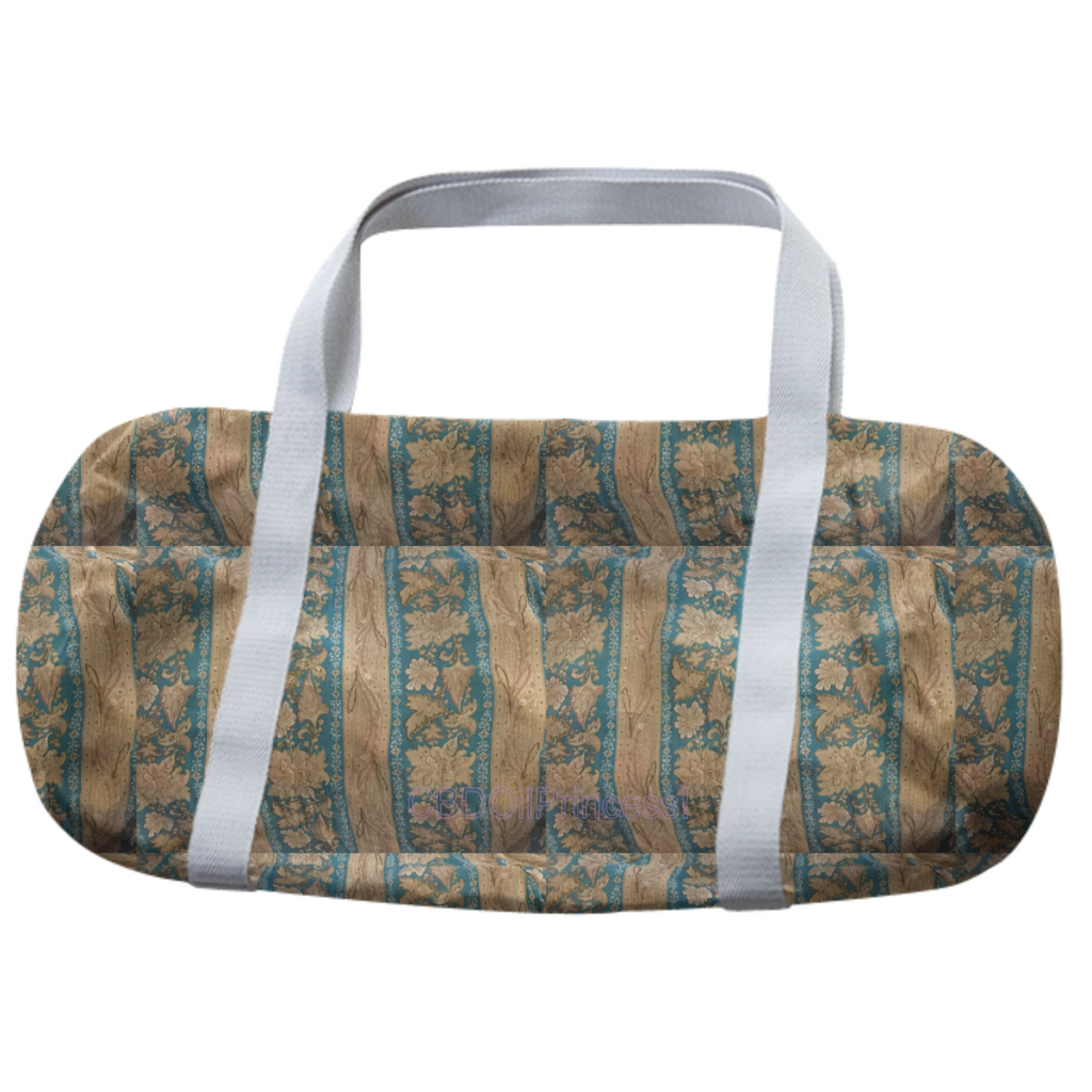 Teal, Tan, Gold & Lavender Western Pattern! DUFFLE BAG! CBDOilPrincess!