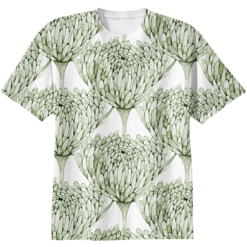 Chrysanthemum Crowd Leaf Green