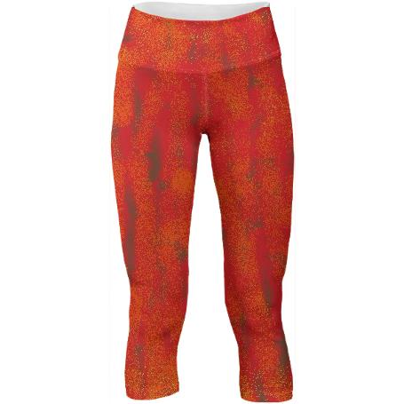 Orange Womens Yoga Pants by LadyT Designs