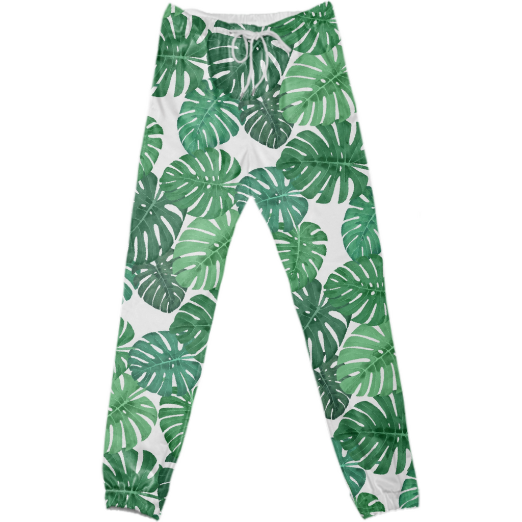 Monstera Jungle Cotton Pants by Frank-Joseph