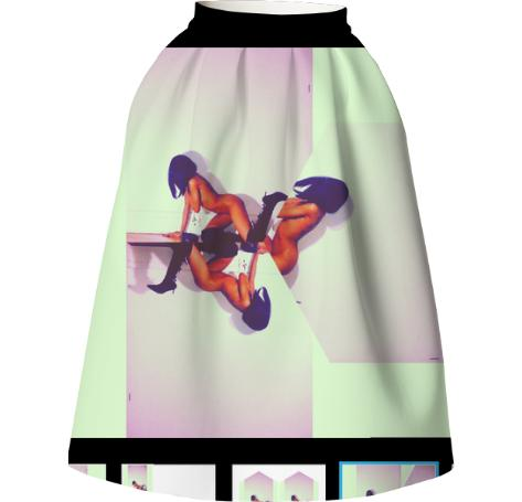 in her truth lit neo skirt