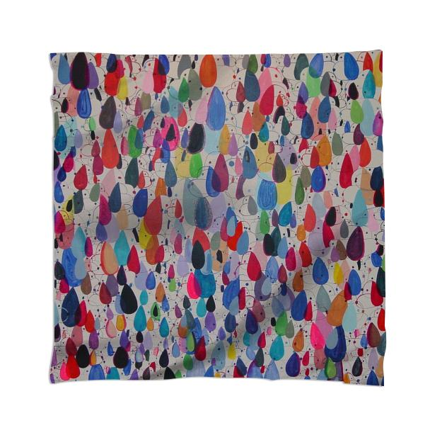 Multicolor Cloned Dog 1 Scarf by Nina Bovasso