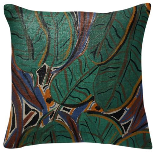Jungle Pillow by NIna Bovasso