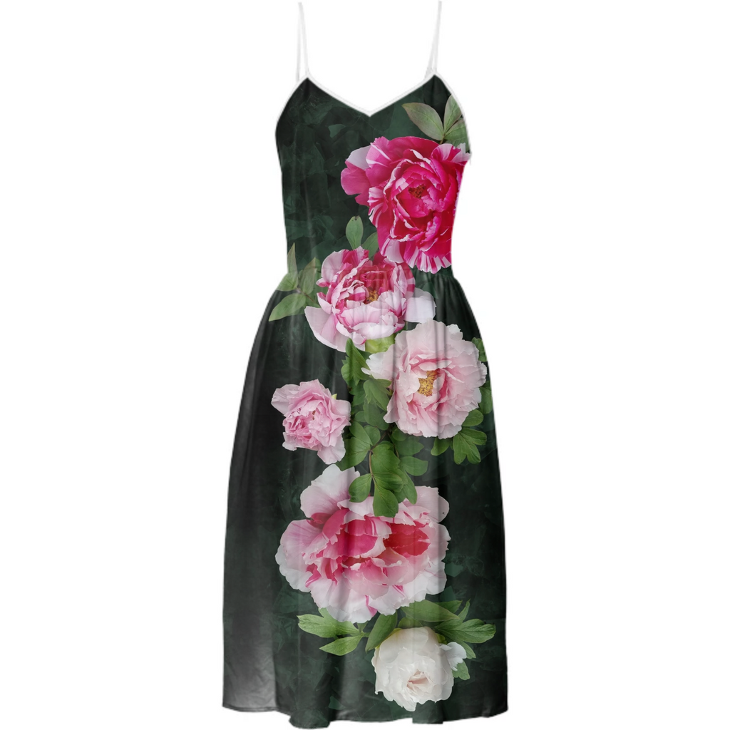 Fleur de Lis Tea Dress-Emerald