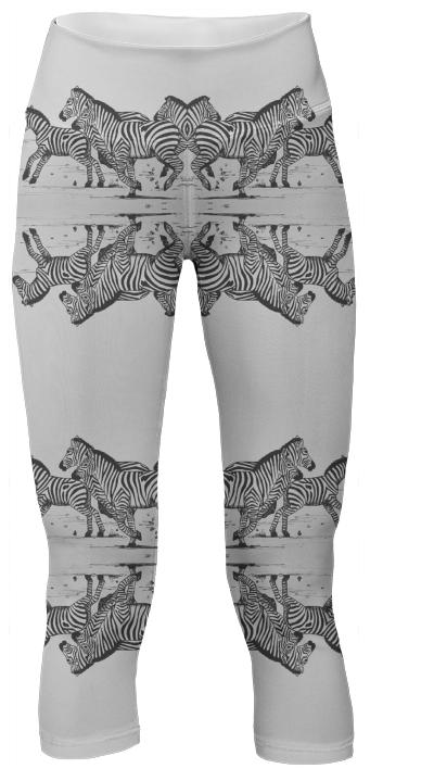 Zebra Yoga Pants