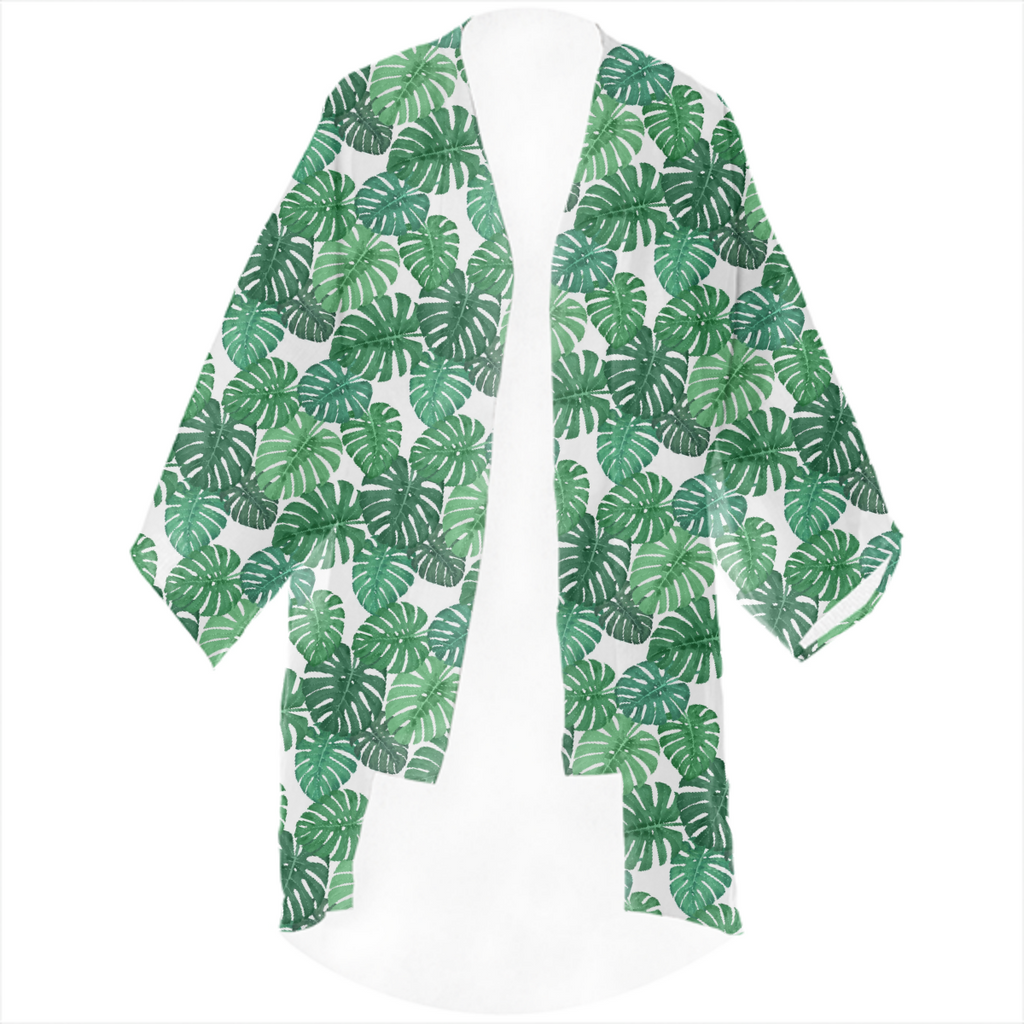 Monstera Jungle Kimono by Frank-Joseph