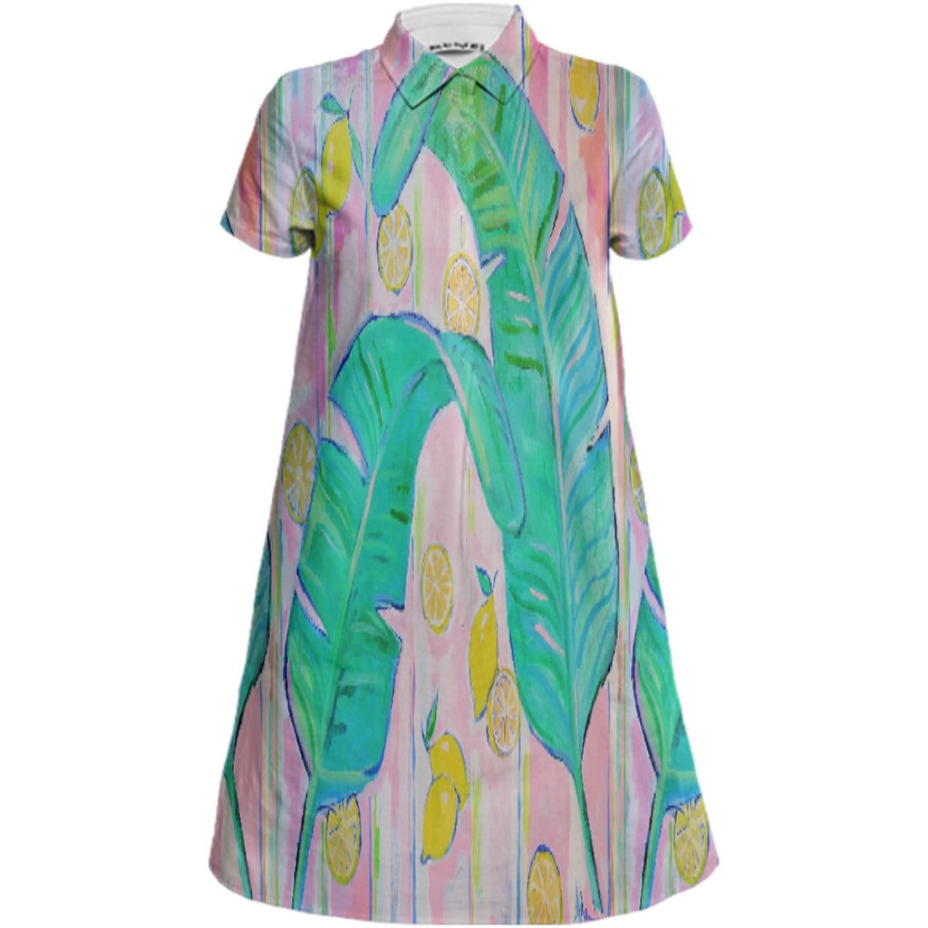 Summer Palm Shirt dress 2019