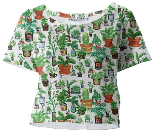 Bushwick Potted Plants Crop Tee