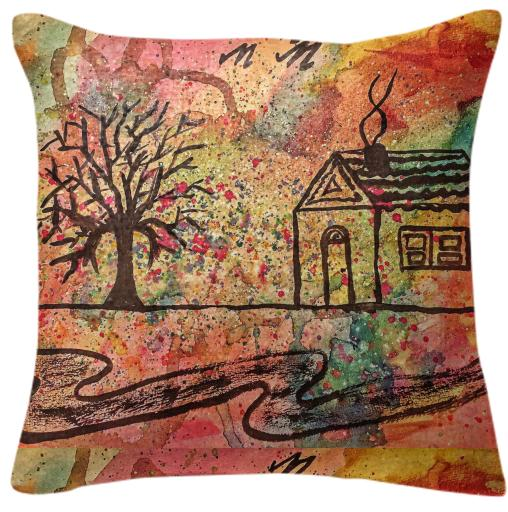 cute drawing pillow