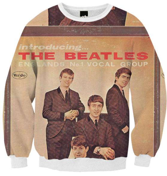 VINTAGE THE BEATLES VINYL COVER SWEATSHIRT