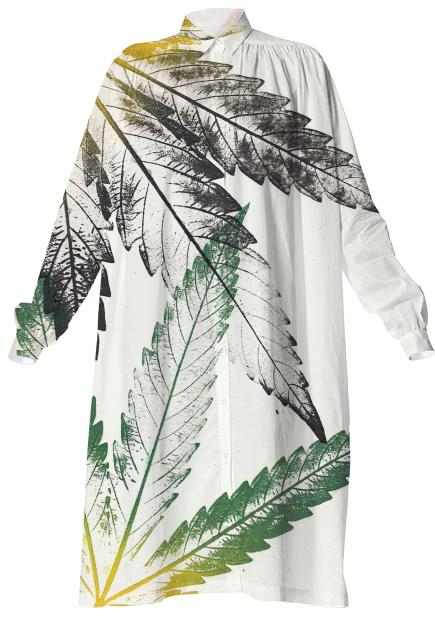 Leaves Long Sleeve Dress