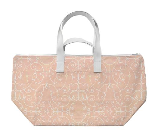 Strapwork Weekend Bag Pink