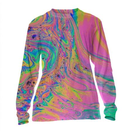 Pastel Marble Cuffed Long Sleeve