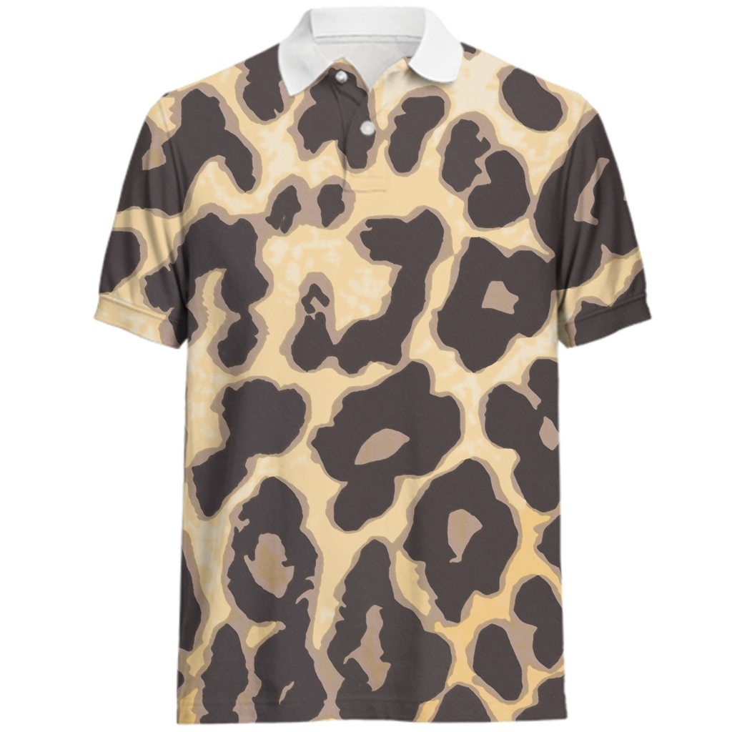 Wild Animal Print Mens Juul Polo Shirt