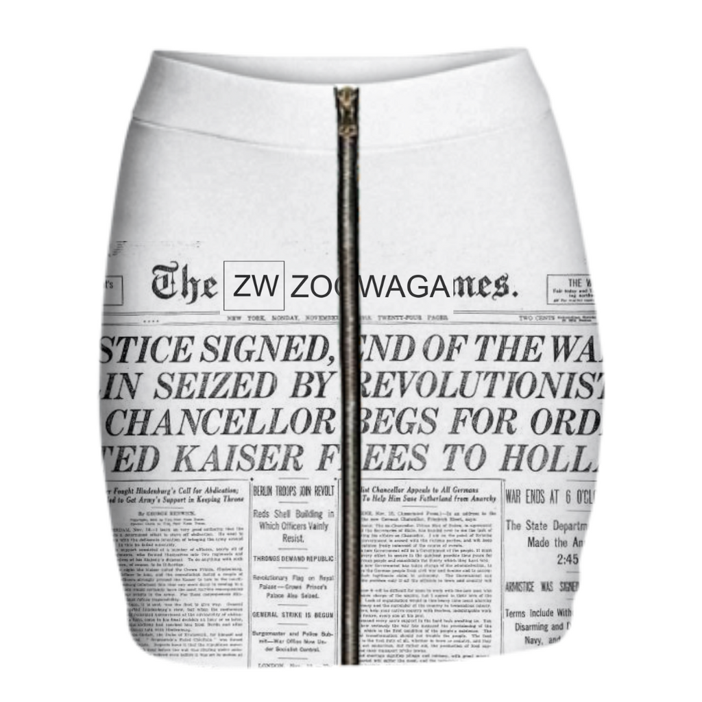 Zoowaga Woman's NY Journalist Zip up Skirt
