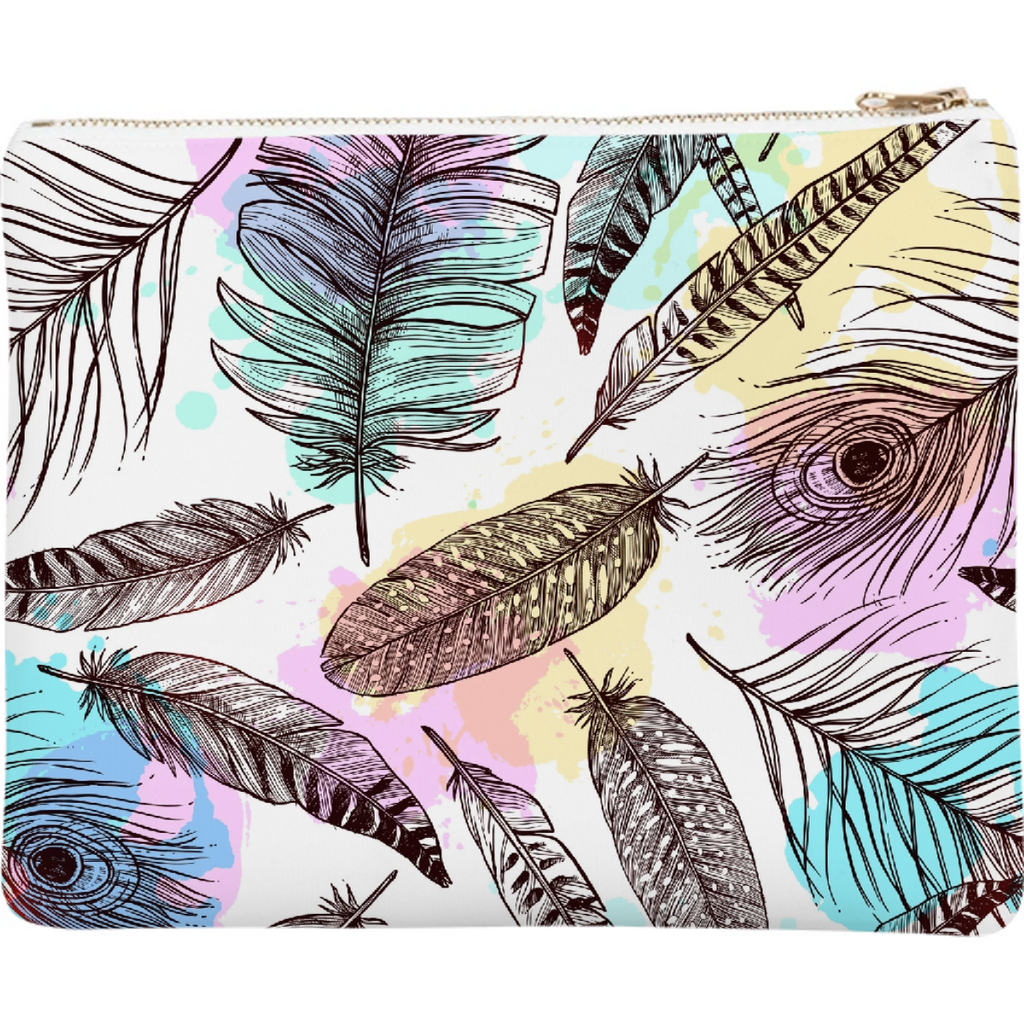 Tribal Pastels Neoprene Clutch