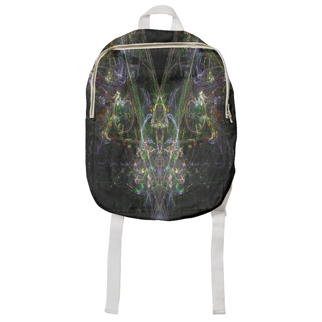 Neon Fractal City Small Kids Size Backpack