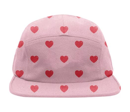Heart Attack Cap Repeat Sml Pink