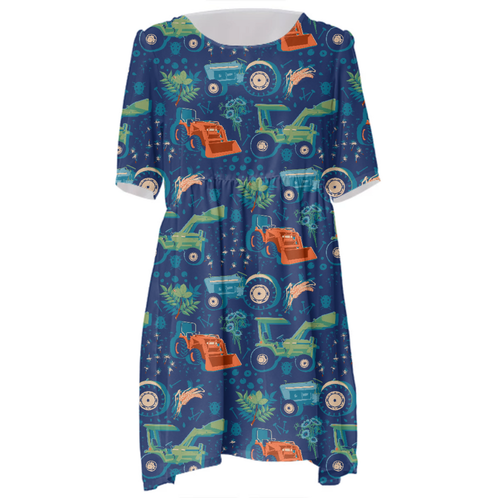 Tractor Hawaiian Dress