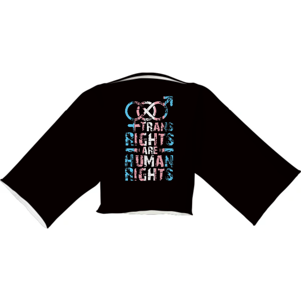 'Trans Right Are Human Rights' Edition | Black Neoprene Block Top