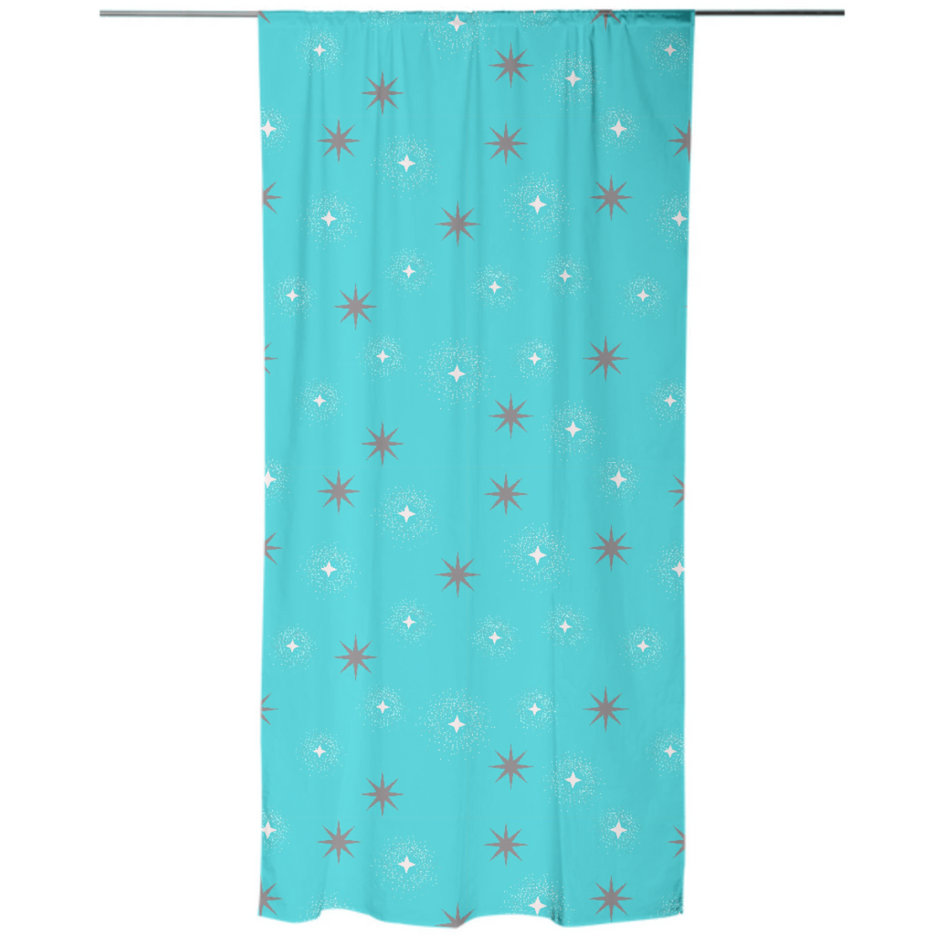 Abstract Stars Explosion Curtain
