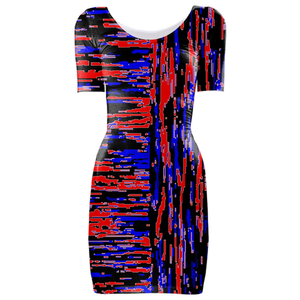 red blue lengthwise cross