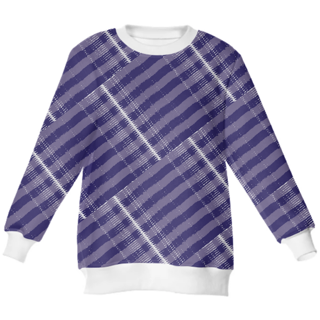 Purple Strips Neoprene Sweatshirt