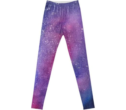 Violet galaxy leggings