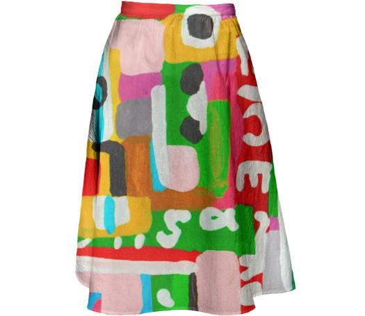 Impossible Text Skirt