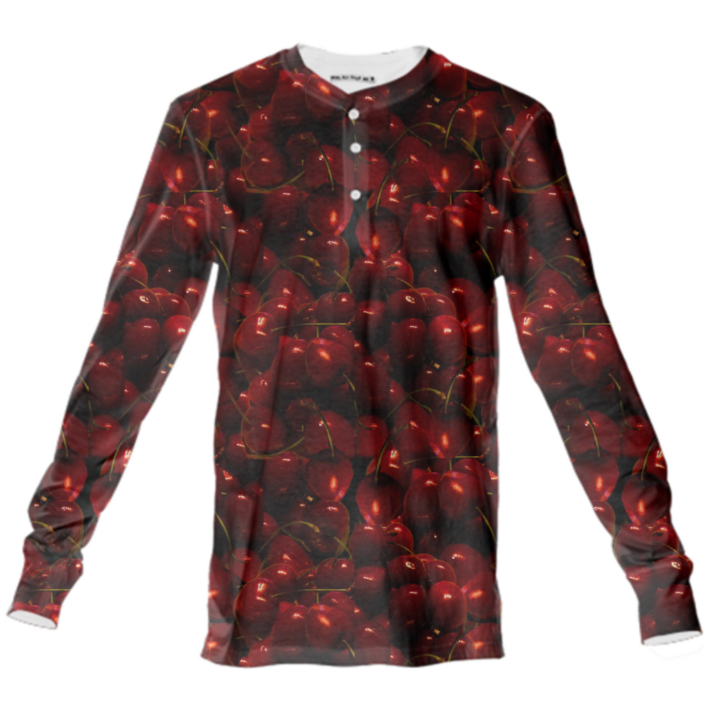 Cherries Collage Henley Shirt