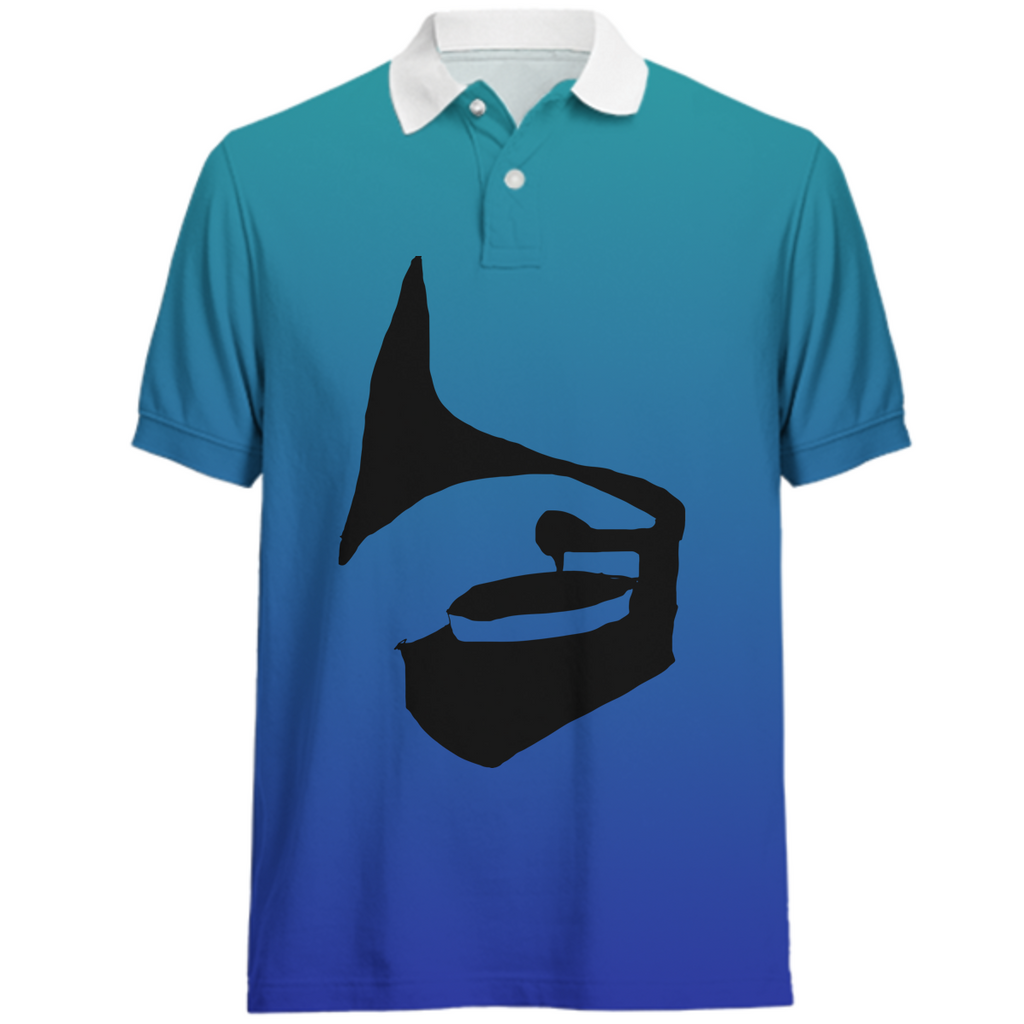 Blue Music Polo Shirt
